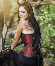 Gothic Overbust Corsets with Attached Neck Gear