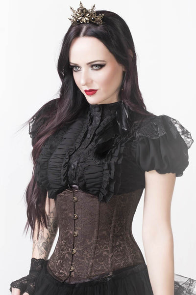 Mady Custom Made Brown Steampunk Underbust Corset