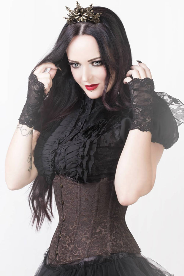 Steampunk Corset, Corset at Low Price, Brown Corset