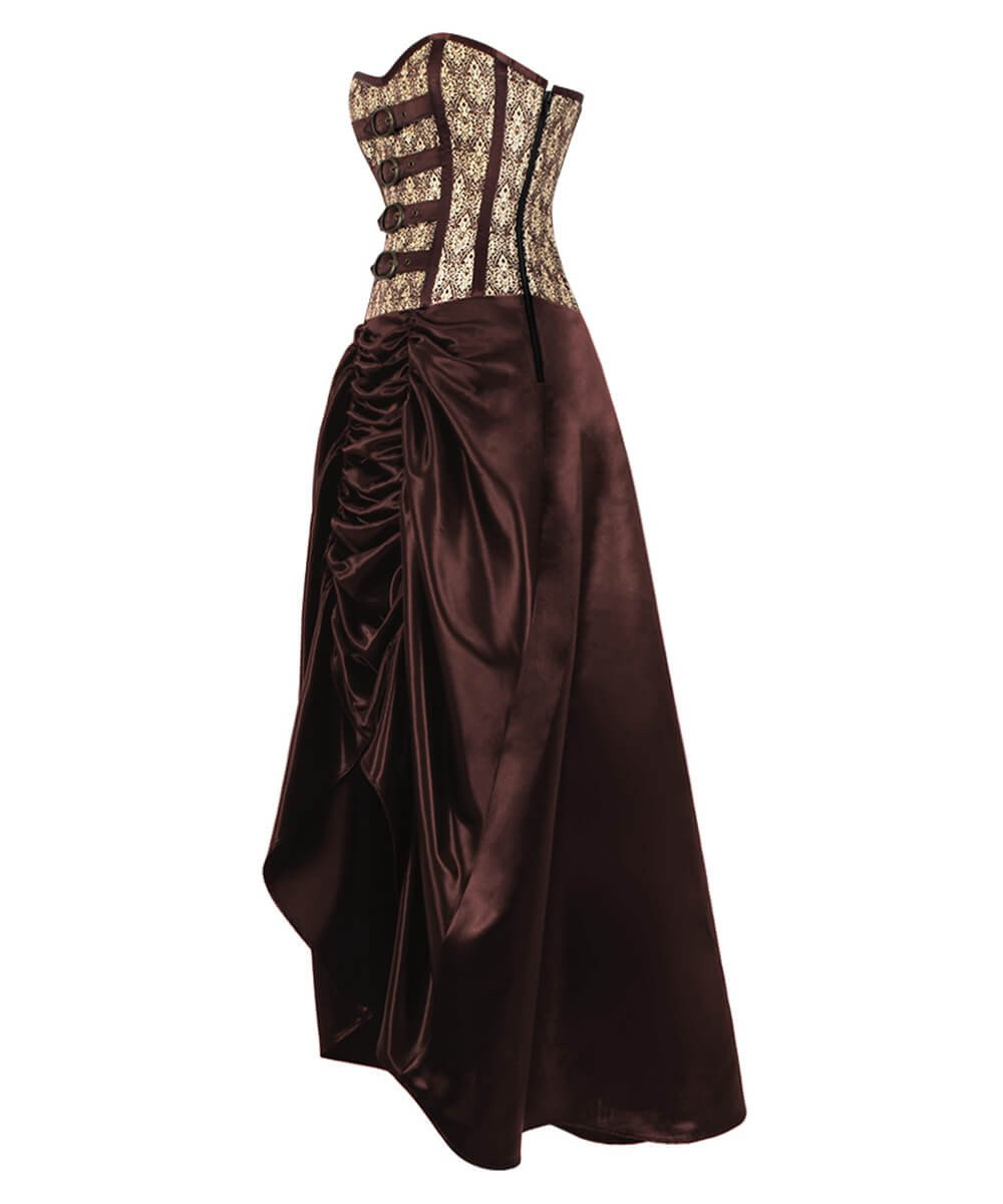 Katharina Gold Steampunk Corset Dress