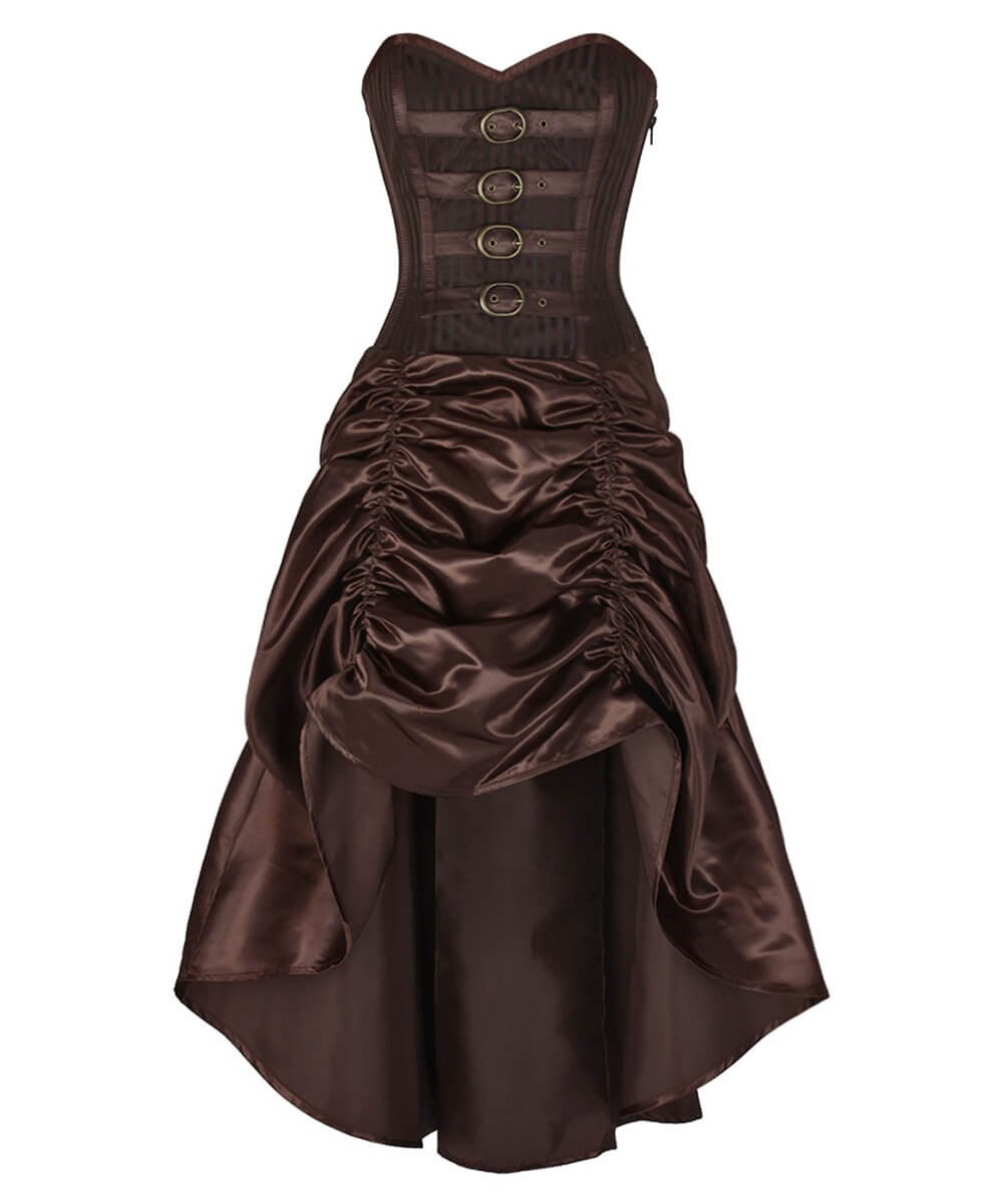 Anneliese Steampunk Brocade Corset Dress