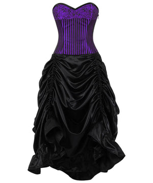 Adena Brocade Corset Dress