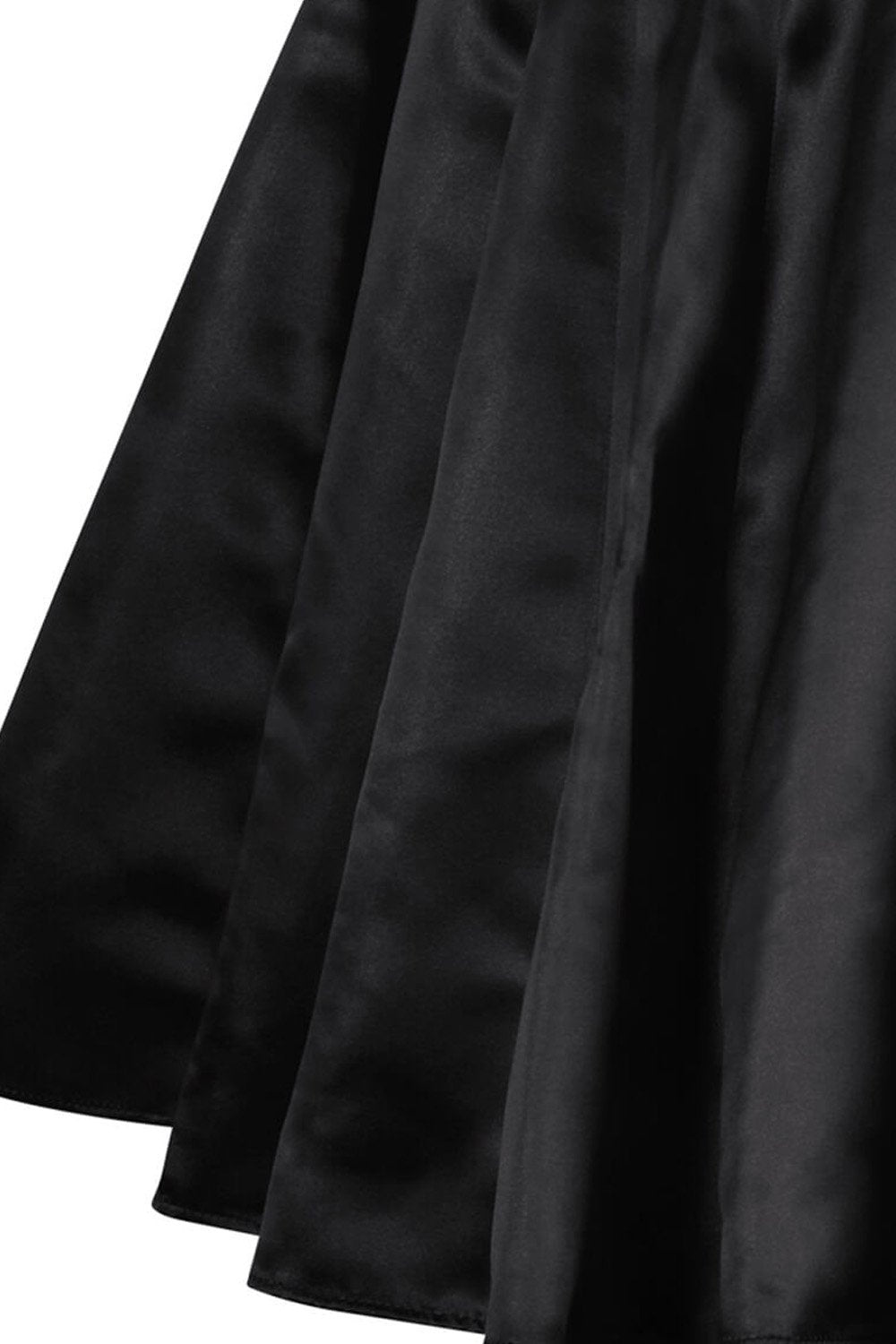 Danice Black Pleated Flared Skirt