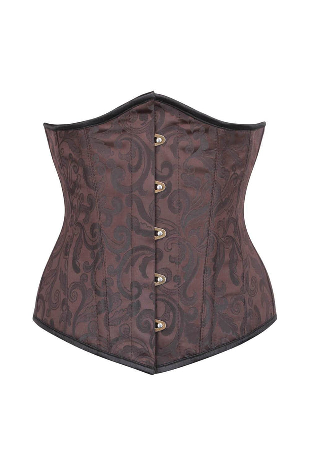 Waist Reducing Brown Brocade Corset