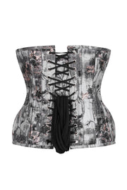 Brocade Waist Training Steel Boned Curvy  Corset
