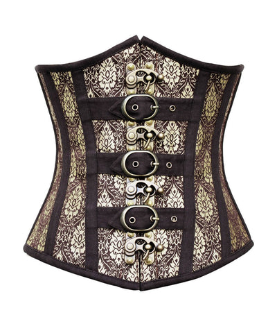 Willie Steampunk Gold Underbust Plus Size Corset