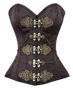 Isabell Steampunk Overbust Embroidered Corset