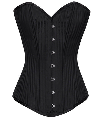 Waist Training Brocade Steel Boned Corset