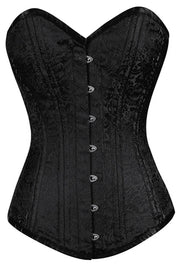 Black Overbust Corset, Waist Trainer at Low Price