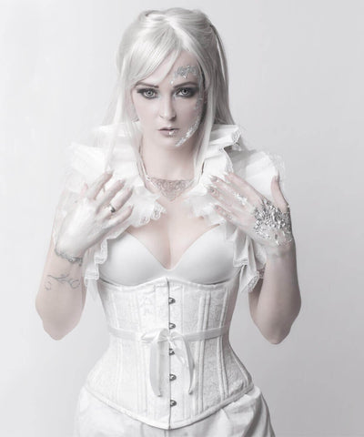 White Waist Training Corset