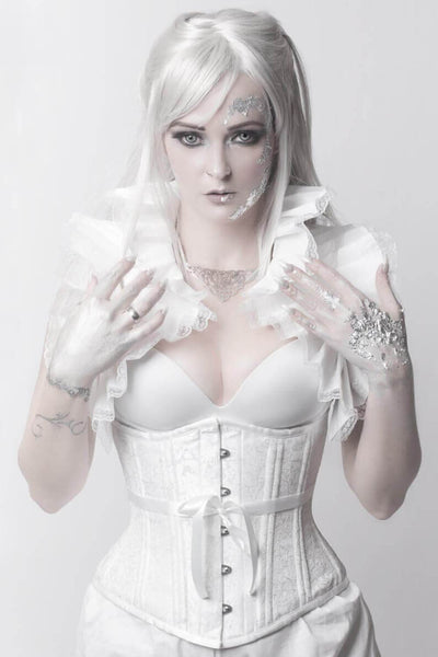 Rozlynn Custom Made White Waist Training Corset