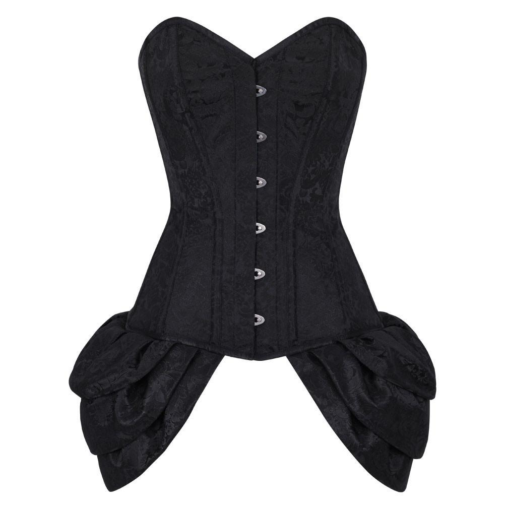 Abasi Black Burlesque Fashion Corset