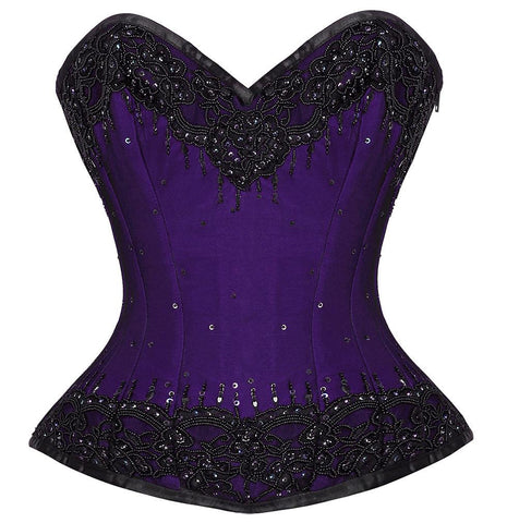 Remus Purple Overbust Couture Corset
