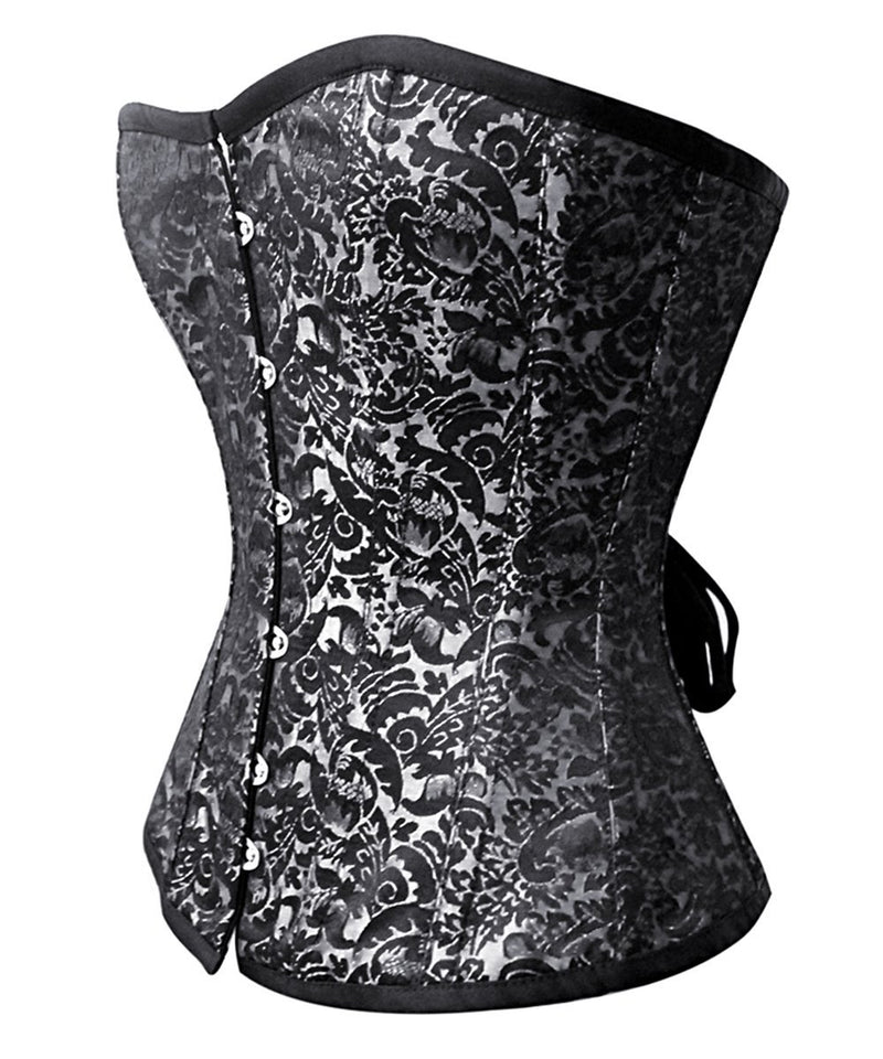 Cady Steel Boned Overbust Corset in Brocade