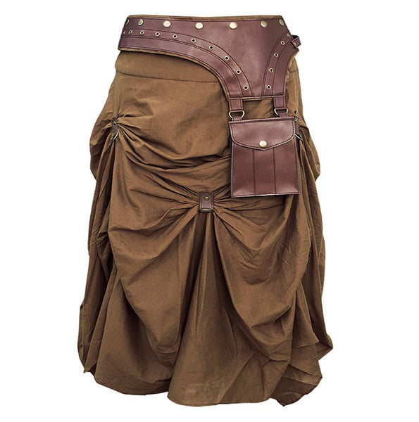 Isha Cotton Steampunk Skirt