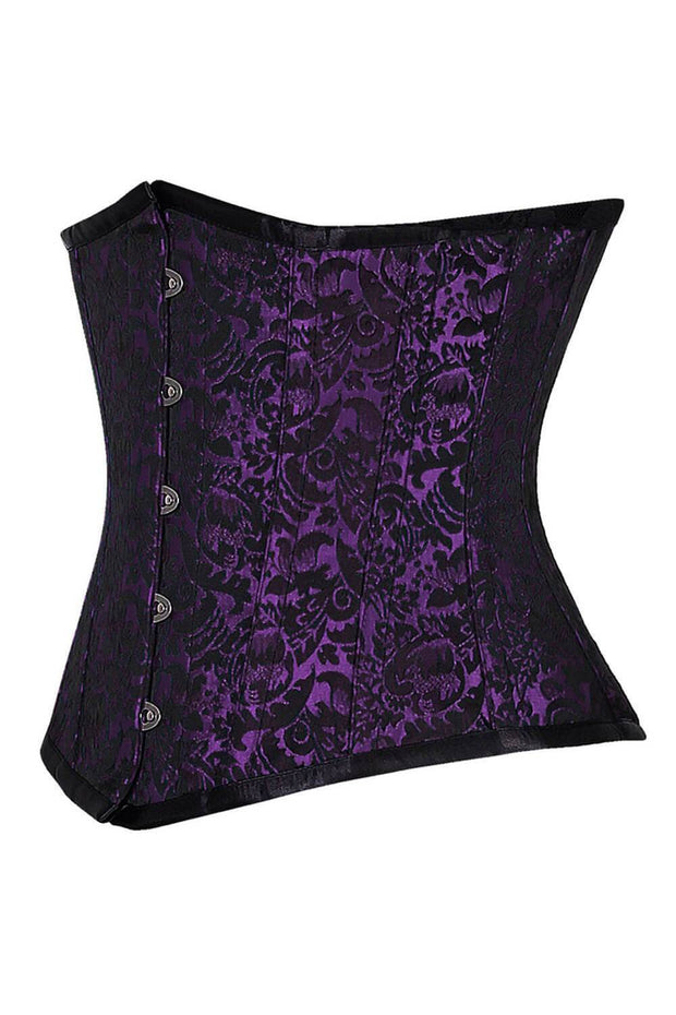 Rocio Custom Made Brocade Underbust Steel Bone Corset