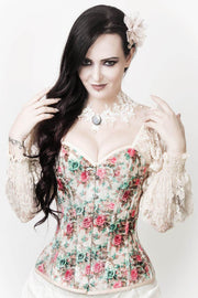Carlyle Custom Made Victorian Inspired Velvet Corset with Attached Sleeve
