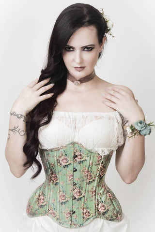 Vintage Goth Arley Victorian Inspired Curvy Waist Training Corset - VG LONDON LTD Corsets and Bustiers Shop