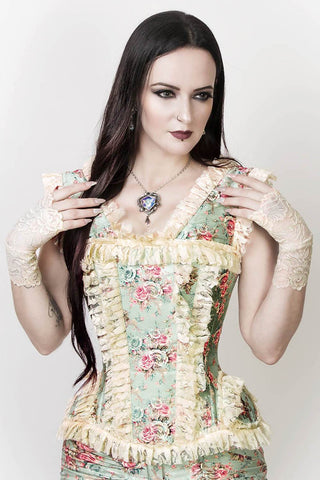 Vintage Goth Joplin Victorian Inspired Overbust Corset - VG LONDON LTD Corsets and Bustiers Shop