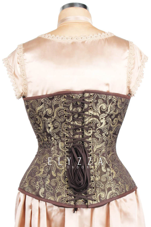Edwardian Long Line Brocade Corset (ELC-401)