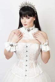 Edwardian Custom Made Long Line Mesh Corset (ELC-401)