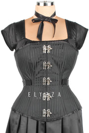 Edwardian Brocade Fan Lacing Corset (ELC-401)