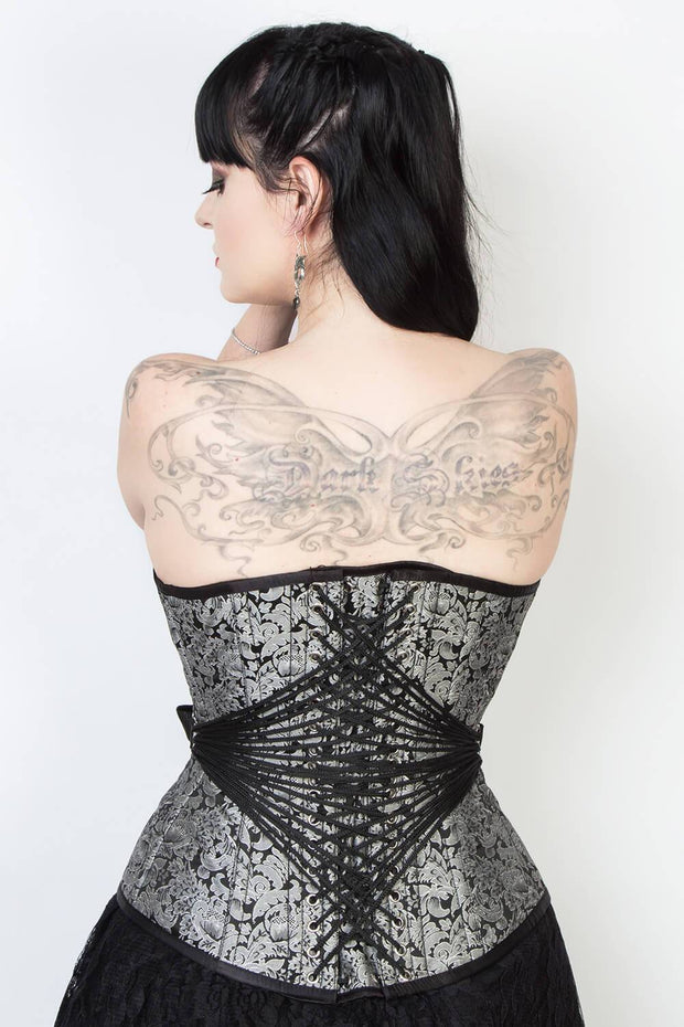 Edwardian Custom Made Brocade Fan Lacing Corset (ELC-401)