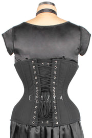 Black Cotton Waist Training Corset (ELC-102)