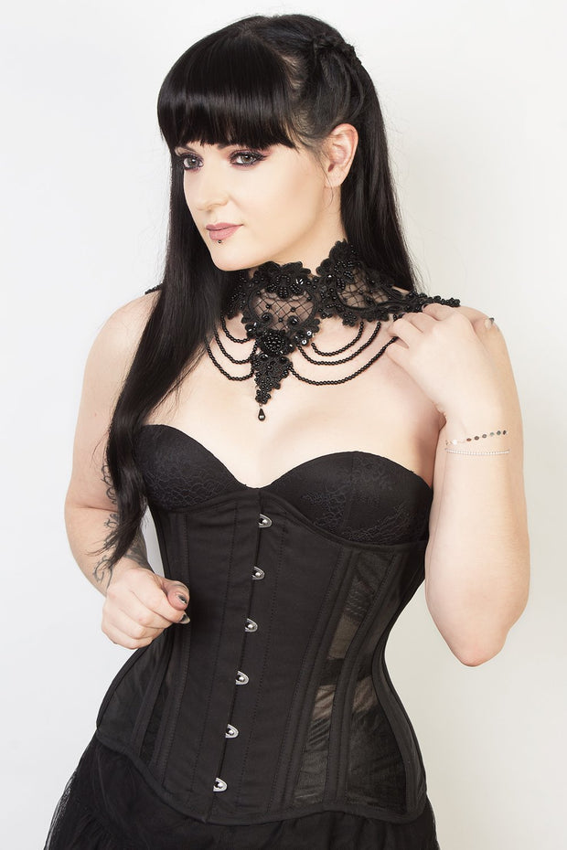 Mesh with Cotton Waist Training Corset (ELC-102)