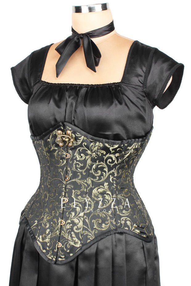 Steampunk Brocade Waist Reducing Corset (ELC-501)