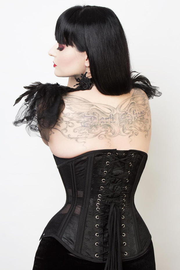 Mesh with Brocade Custom Made Waist Trainer Corset (ELC-501)