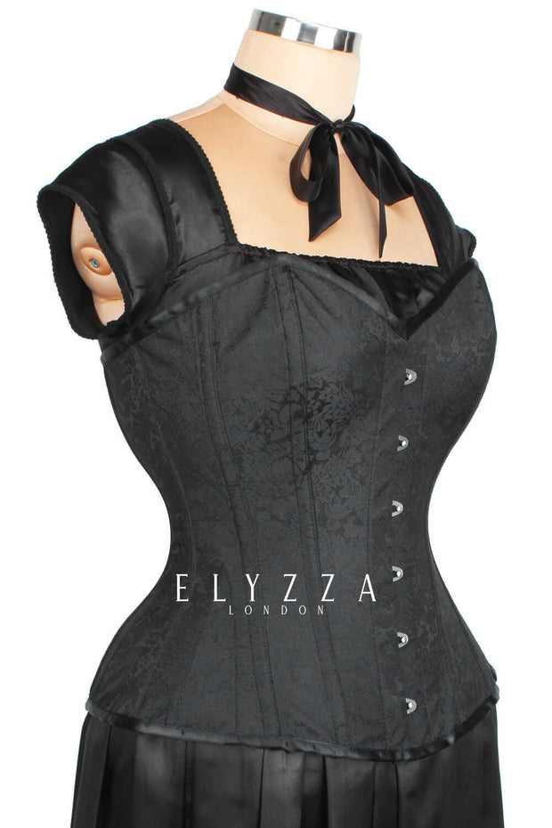Waist Reducing Overbust Brocade Corset (ELC-301)