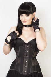 Mesh with Cotton Custom Made Black Waist Reducing Corset (ELC-102)