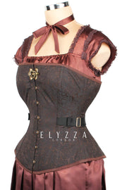 Steampunk Brocade Fan Lacing Corset (ELC-401)