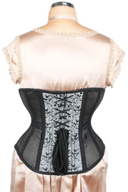 Mesh with Brocade Steel Boned Corset (ELC-601)