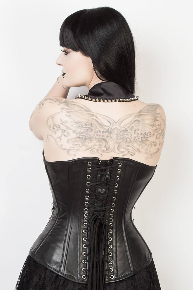 Gothic Overbust Leather Corset (ELC-401)