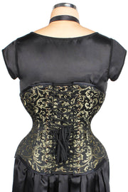 Steel Boned Steampunk Brocade Corset (ELC-501)