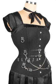 Combo Deal Overbust Cotton Corset (ELC-401) with Skirt