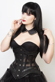 Mesh with Brocade Custom Made Gothic Corset (ELC-501)