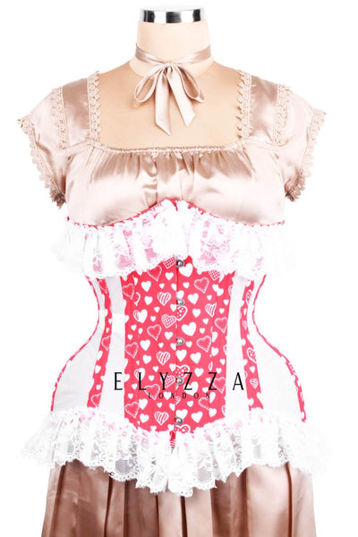 Red Heart Mesh Corset (ELC-102)