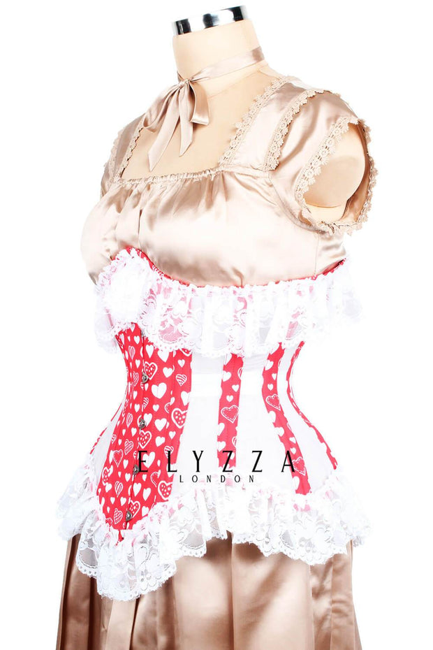 Red Heart Mesh Corset (ELC-501)