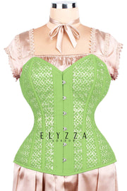 Mesh with Lace Overlay Waist Reducing Corset (ELC-701)