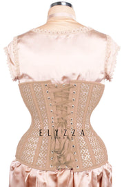Mesh with Lace Overlay Underbust Corset (ELC-102)