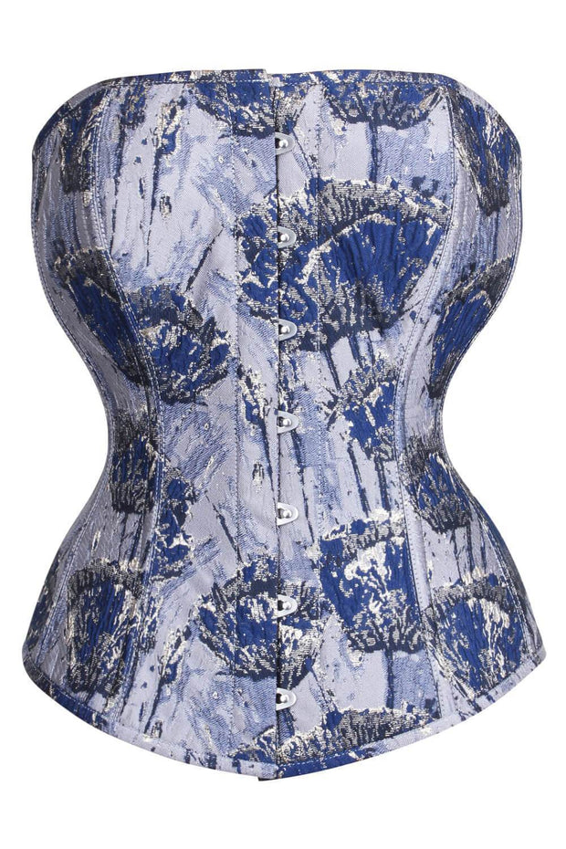 Waist Reducing Custom Made Overbust Brocade Corset (ELC-401)