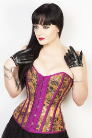Floral Mesh Sweetheart Corset (ELC-701)