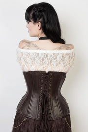 Leather Custom Made Waist Training Steampunk Corset (ELC-102)
