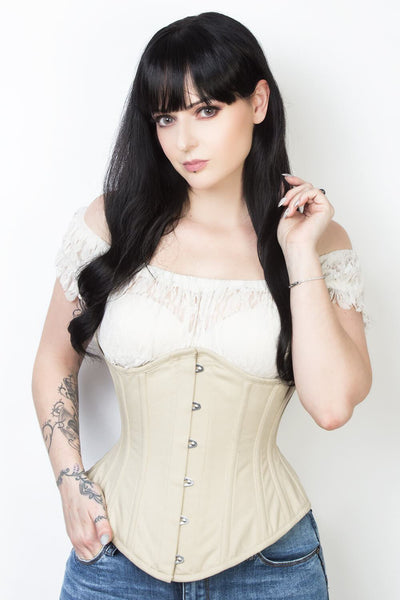 Cotton Custom Made Waist Reducing Underbust Corset (ELC-601)