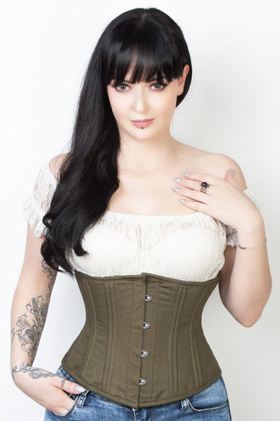 be17af34d7 Cotton Underbust Waist Trainer Corset