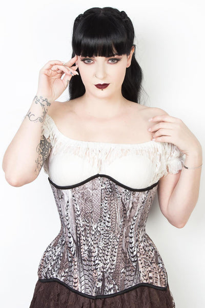 Feather Print Waist Reducing Corset (ELC-102)