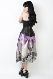 Printed Gothic Skirt with Detachable Belt